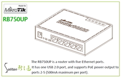 【MikroTik】RB750UP PoE路由器
